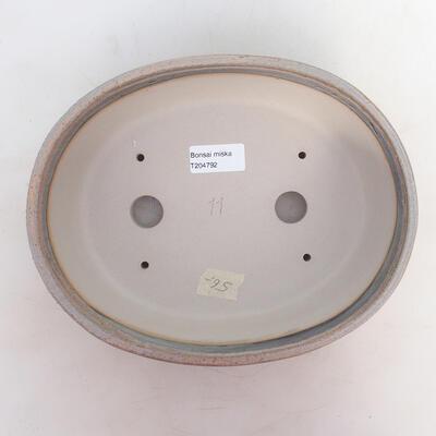 Miska Bonsai 24,5 x 19,5 x 7 cm, kolor szaro-beżowy - 3