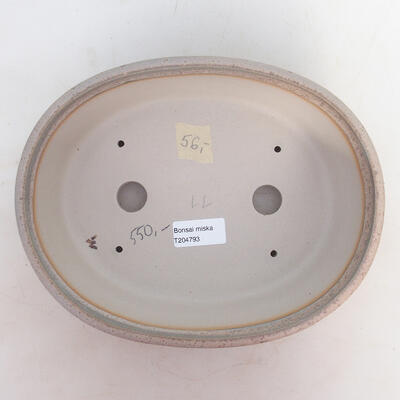 Miska Bonsai 24 x 19 x 7,5 cm, kolor szaro-beżowy - 3