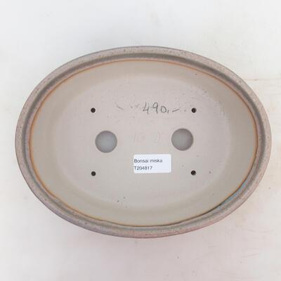 Miska Bonsai 23 x 17 x 7 cm, kolor szaro-beżowy - 3