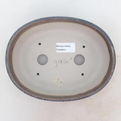 Miska Bonsai 20 x 15 x 6 cm, kolor szary - 3