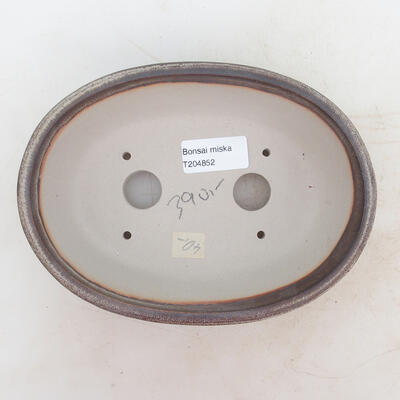 Miska Bonsai 19 x 13,5 x 6 cm, kolor brązowo-szary - 3
