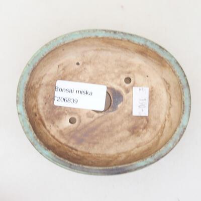 Ceramiczna miska bonsai 12 x 9,5 x 3,5 cm, kolor zielony - 3