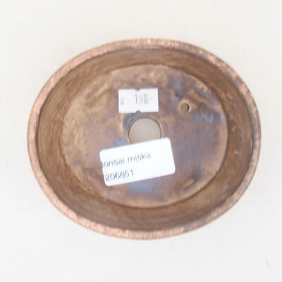 Ceramiczna miska bonsai 10,5 x 9 x 4,5 cm, kolor różowy - 3