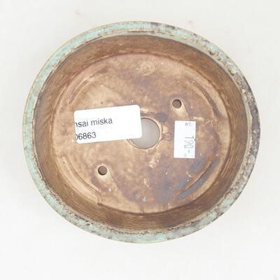 Ceramiczna miska bonsai 12 x 11 x 3 cm, kolor zielony - 3