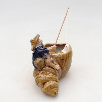 Figurka ceramiczna - Rybak F17 - 3