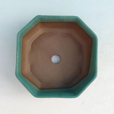 Ceramiczna miska bonsai H 13 - 11,5 x 11,5 x 4,5 cm - 3