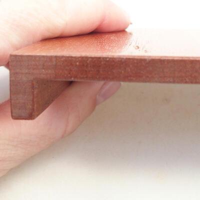 Drewniany stół pod bonsai brązowy 10 x 8 x 1,5 cm - 4
