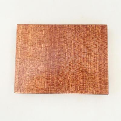 Drewniany stół pod bonsai brązowy 12 x 9 x 1,5 cm - 4