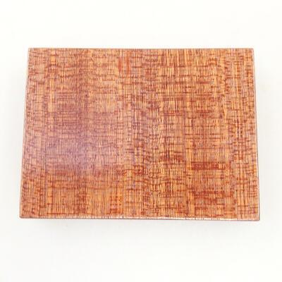 Drewniany stół pod bonsai brązowy 8 x 6 x 1,5 cm - 4