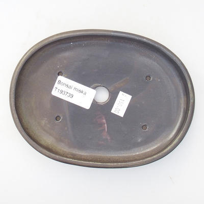 Ceramiczna miska bonsai 15,5 x 12,5 x 4,5 cm, kolor szary - 4