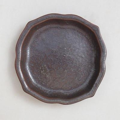 Miska Bonsai + taca H95 - miska 7 x 7 x 4,5 cm, taca 7 x 7 x 1 cm - 4