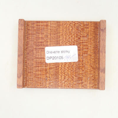 Drewniany stół pod bonsai brązowy 10 x 8 x 1,5 cm - 5