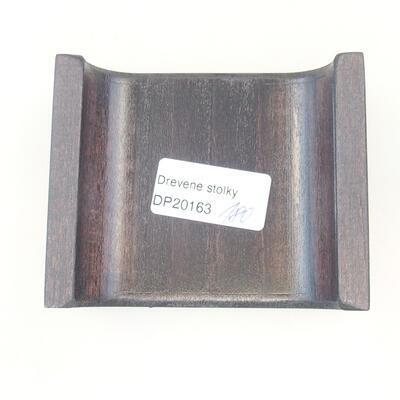 Drewniany stół pod bonsai brązowy 9,5 x 8 x 3,5 cm - 5