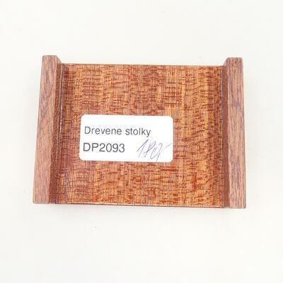 Drewniany stół pod bonsai brązowy 8 x 6 x 1,5 cm - 5